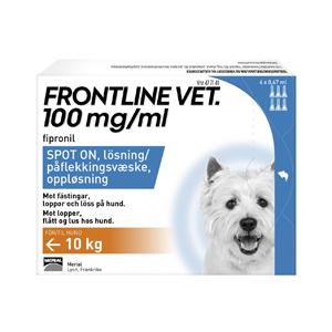 Frontline Vet 100 mg:ml Spot-on För Hund
