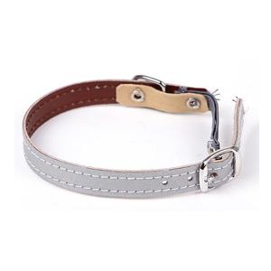 Halsband för katter - reflex slät silver
